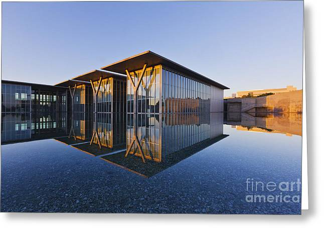 Forth Worth Modern Art Gallery Greeting Card by Jeremy Woodhouse