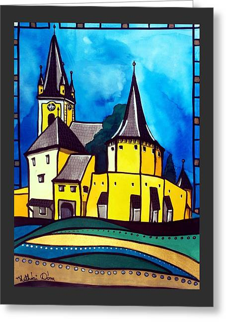 Fortified Medieval Church In Transylvania By Dora Hathazi Mendes Greeting Card