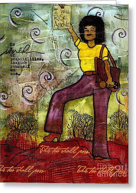 Survivor Art Greeting Cards - Fortitude Greeting Card by Angela L Walker