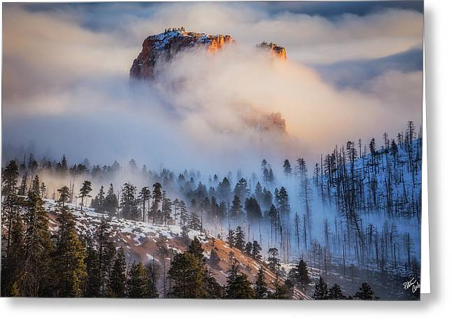 Fortress In The Clouds Greeting Card by Peter Coskun