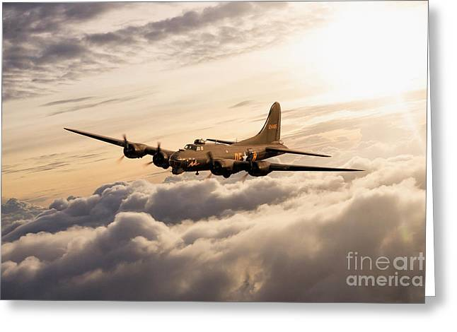 Fortress In The Sky Greeting Card by J Biggadike