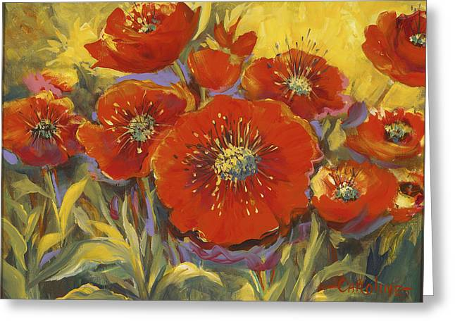 Fortuitous Poppies Greeting Card