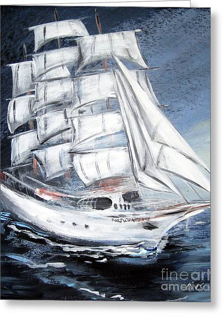 Fortunate. Sailing Ship Greeting Card