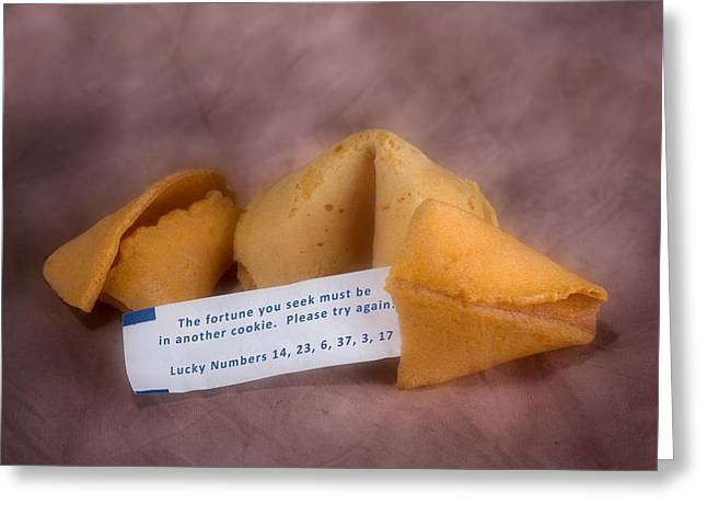 Fortune Cookie Fail Greeting Card by Tom Mc Nemar