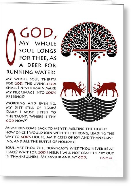 Forty Second Psalm Greeting Card by Lawrence Klimecki