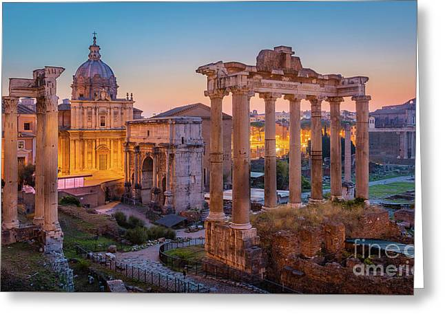 Forum Romanum Dawn Greeting Card