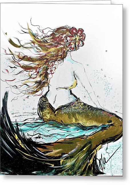 Forward Seas Greeting Card by Reba Mcconnell