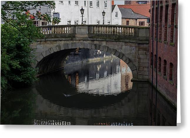 Greeting Card featuring the photograph Foss Bridge - York by Scott Lyons