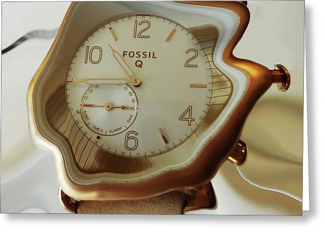 Fossil Q Greeting Card by Bruce Iorio