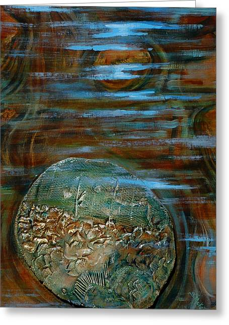 Fossils In A Stream Greeting Card by Suzanne McKee