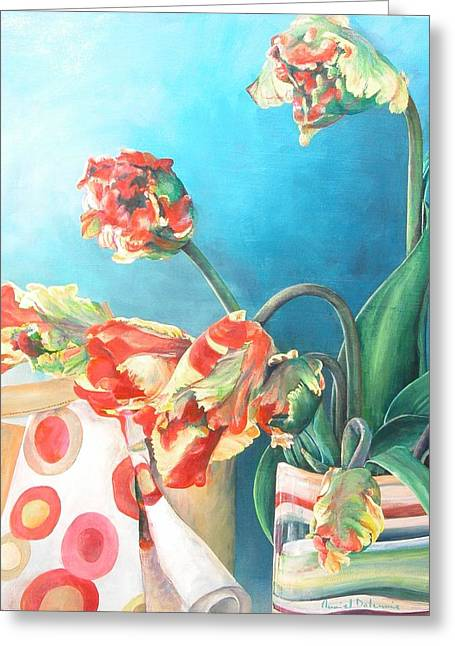 Foulard Greeting Card by Muriel Dolemieux