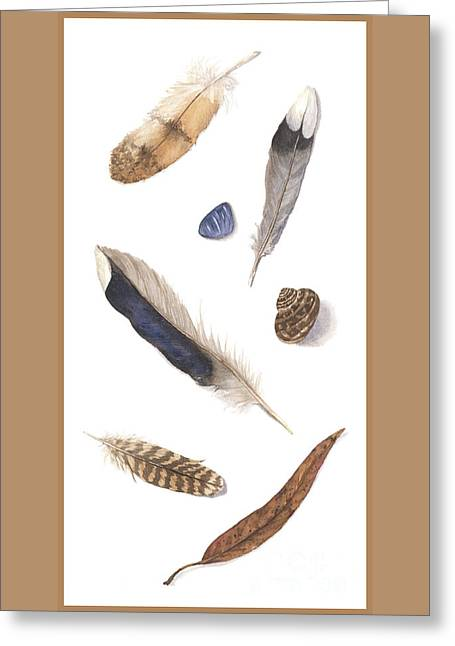 Found Treasures Greeting Card by Lucy Arnold