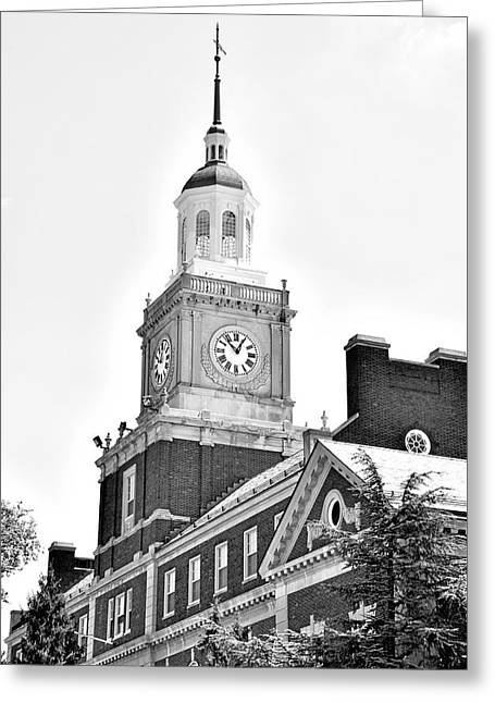 Founders Library - Howard University  Greeting Card by Brendan Reals