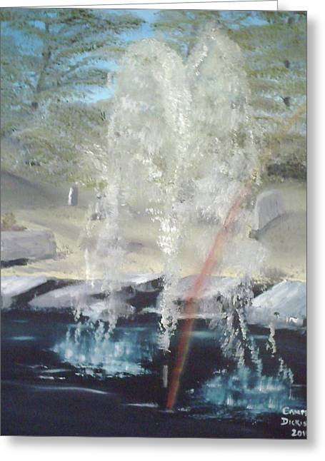 Fountain At Cataraqui Greeting Card by Campbell Dickison