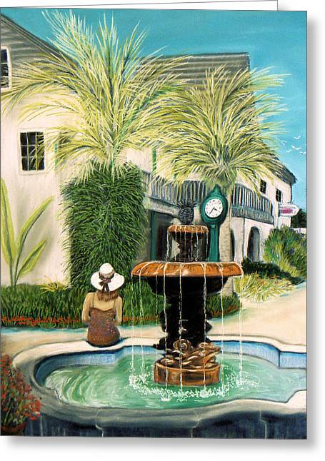 Fountain At St. Augustine Greeting Card