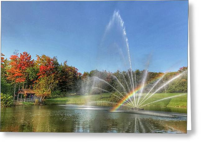 Fountain At Tater Hill Greeting Card