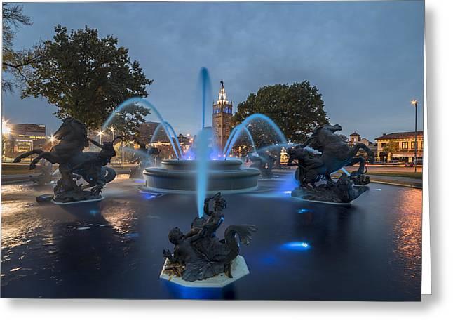 Fountain Blue Greeting Card