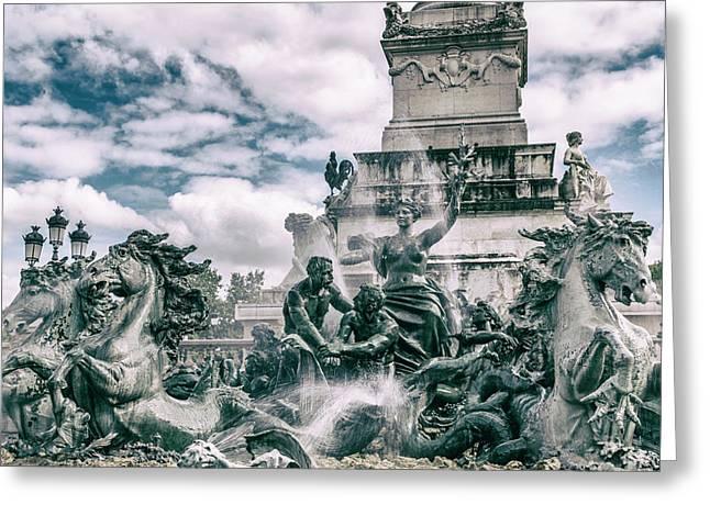 Fountain Frolics Greeting Card