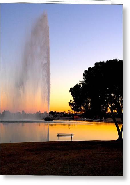 Fountain Hills Greeting Card by Paul Kloschinsky