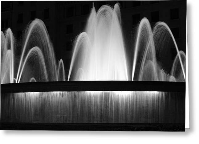 Greeting Card featuring the photograph Fountain In Barcelona by Farol Tomson