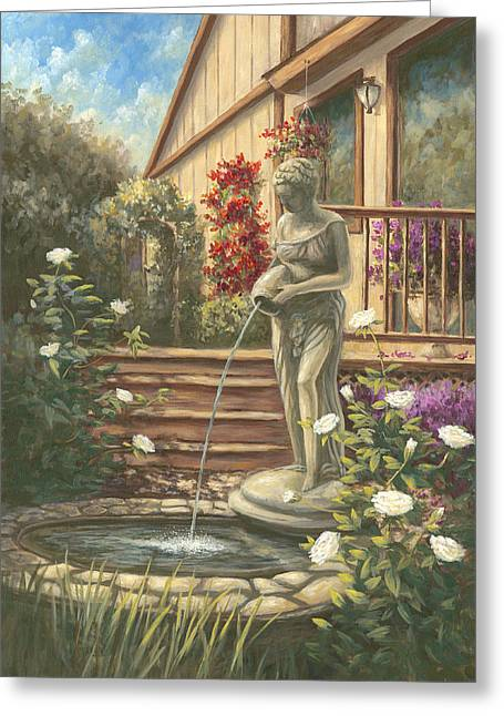 Fountain Lady Greeting Card