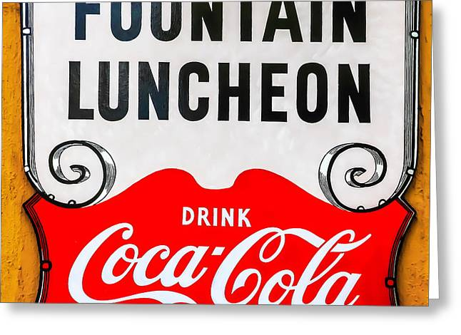 Fountain Luncheon Sign Greeting Card
