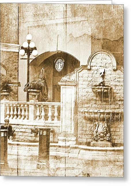 Fountain Of Rest Greeting Card by Dale Stillman