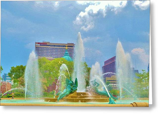 Fountain Of The Three Rivers Greeting Card by Marla McPherson