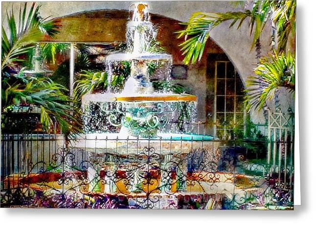 Fountain Of Water Greeting Card