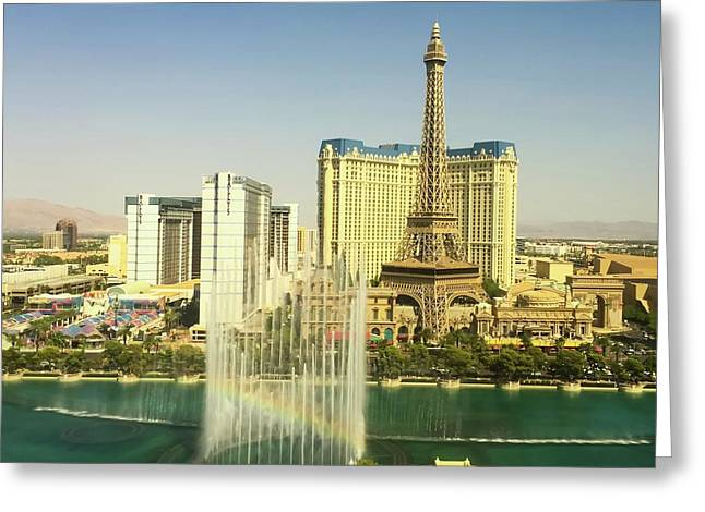 Greeting Card featuring the photograph Fountain Rainbow by Chris Feichtner
