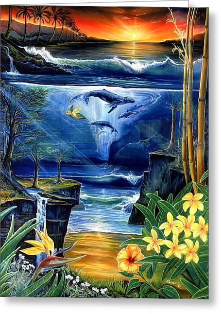 Fountain Greeting Card by Sevan Thometz