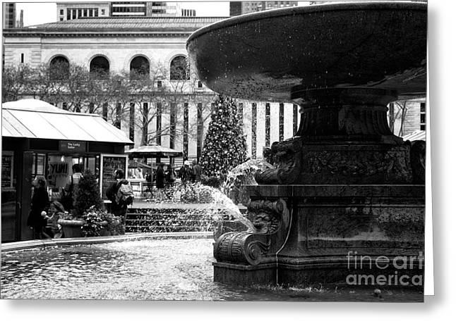 Fountain Terrace Greeting Card by John Rizzuto