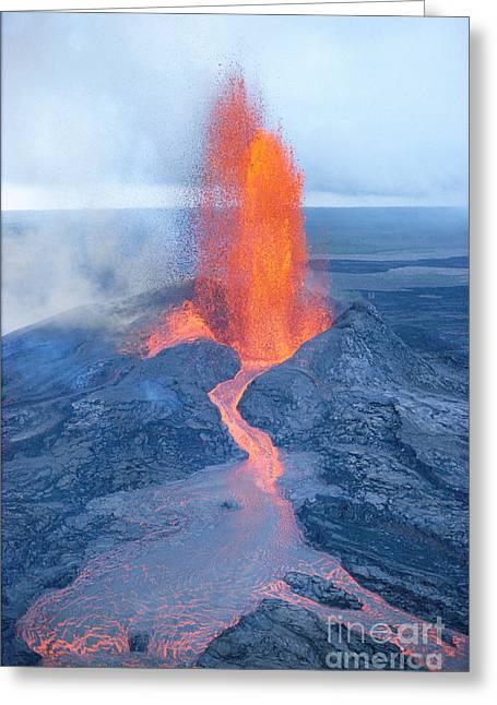 Fountaining Lava Greeting Card