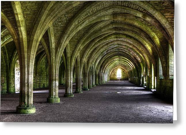 Fountains Abbey 3 Greeting Card by Svetlana Sewell