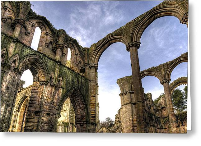 Fountains Abbey 5 Greeting Card by Svetlana Sewell