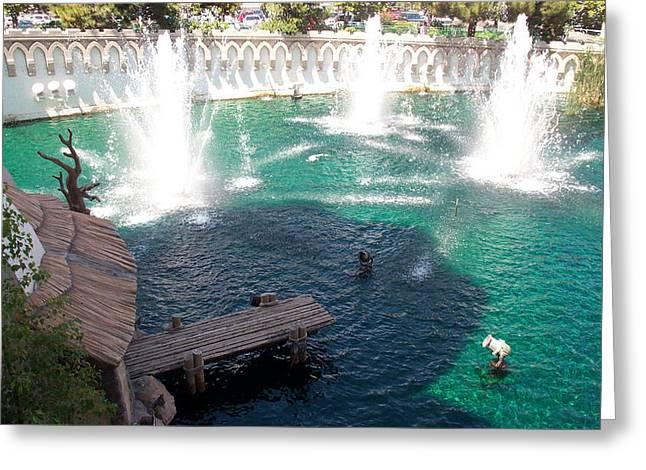 Fountains Greeting Card by Alan Espasandin