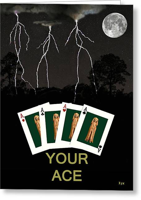 Four Aces Your Ace Greeting Card by Eric Kempson