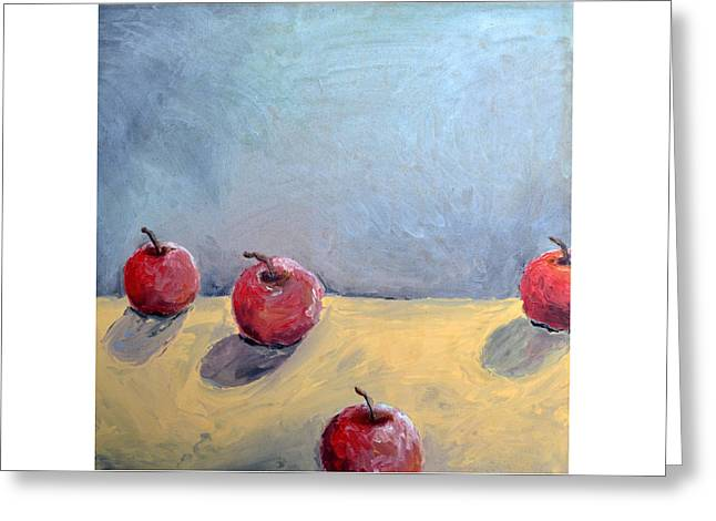 Four Apples Greeting Card