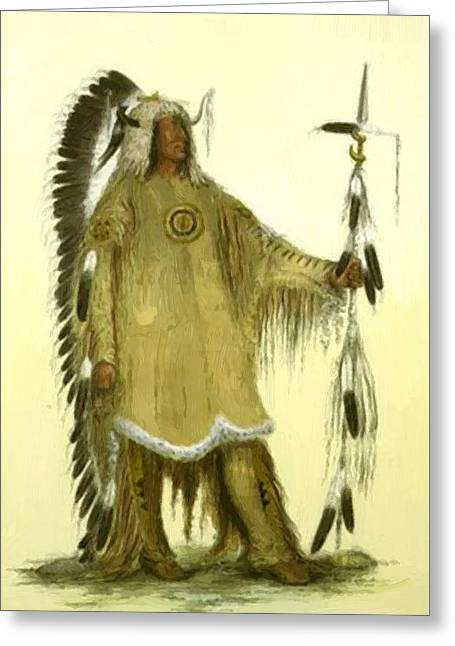 Four Bears Mandan Chief 1833 Greeting Card