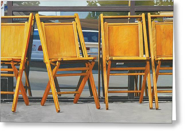 Four Chairs Greeting Card by Michael Ward