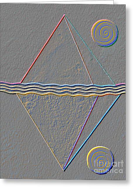 Four Dimensional Continuum Greeting Card by Norma Appleton