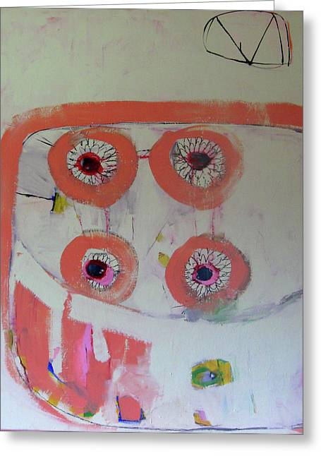 Four Eyes Greeting Card by Brooke Wandall