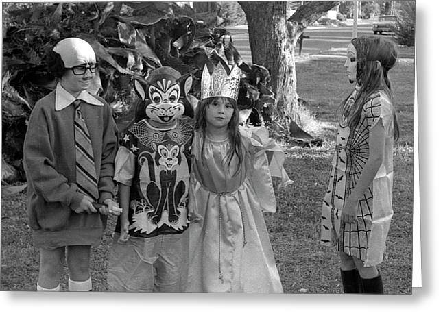 Four Girls In Halloween Costumes, 1971, Part Two Greeting Card