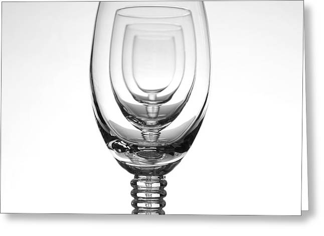 Four Glasses Greeting Card by Andreas Berheide