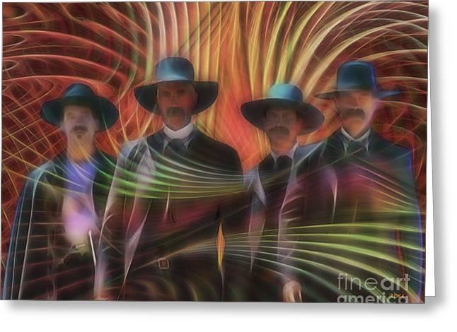 Four Horsemen Greeting Card by John Robert Beck