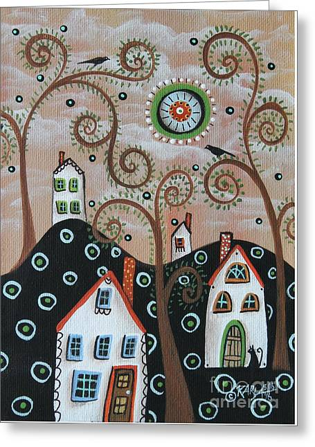 Four Houses 1 Greeting Card by Karla Gerard