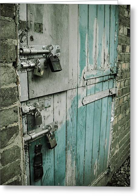 Four Latches Greeting Card