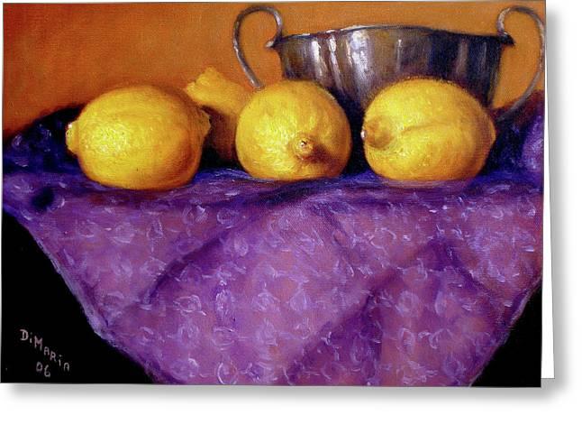 Four Lemons Greeting Card