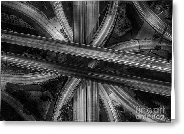 Four Level Interchange Greeting Card by Art K