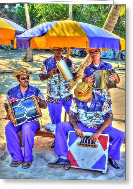 Four Man Band Greeting Card